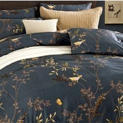 Chausub دوفيت تغطية مجموعة 4 قطع الساتان القطن المصري الفراش مجموعة فاخرة مطبوعة السرير غطاء السرير ملاءات المخدة الملك الملكة حجم