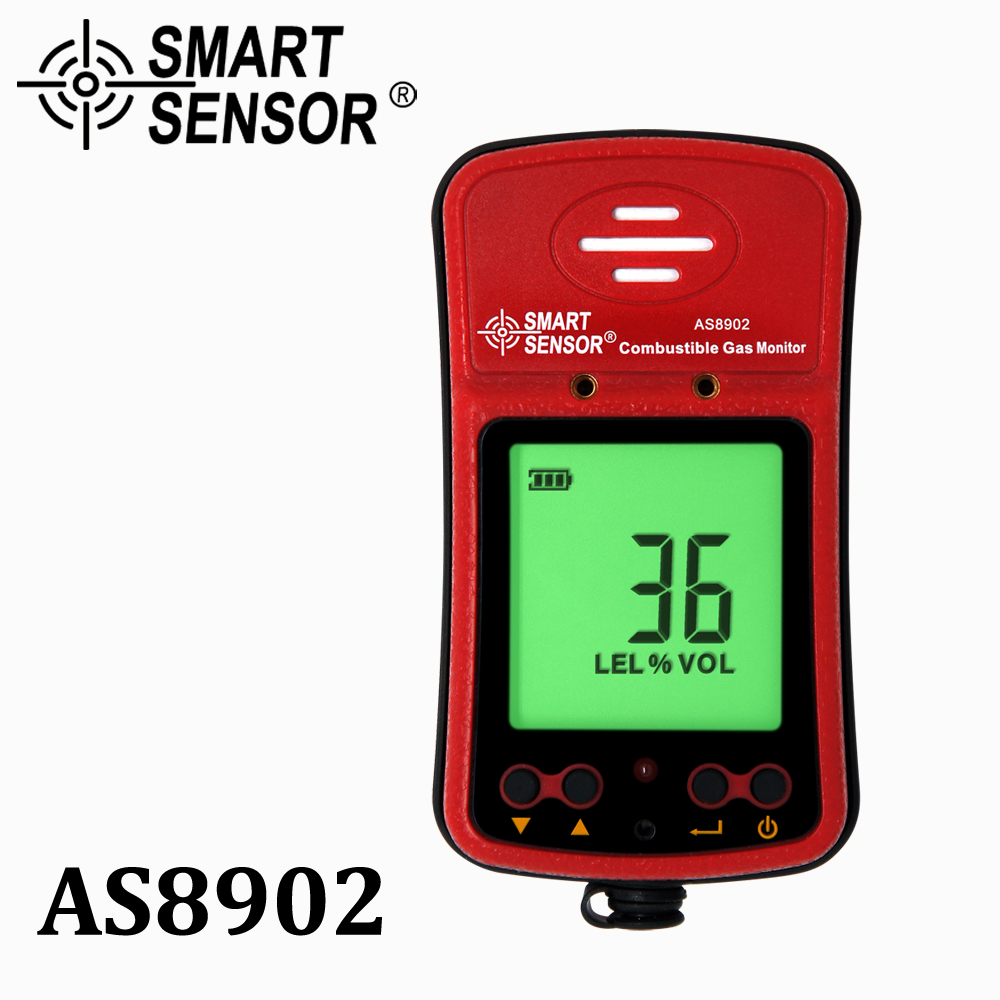 handheld combustible gas detector port flammable gas Leak analyzer gas alarm Smart Sensor AS8902 range 0-100%LEL With battery