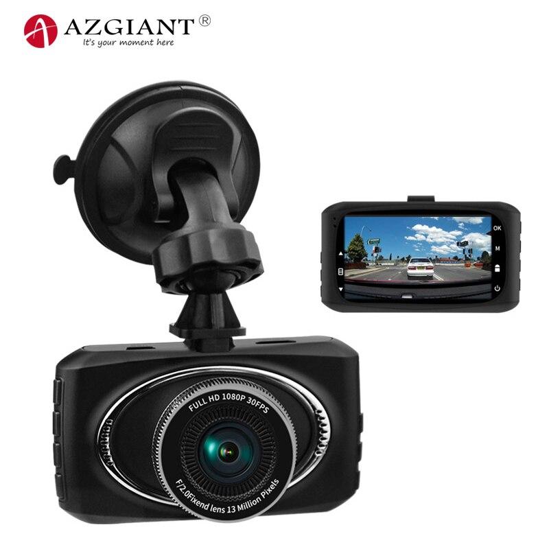 AZGIANT 3.0 pouces plein Angle HD voiture DVR caméra auto-démarrage conduite enregistreur détection de mouvement haut de gamme puce caméscope Dash Cam