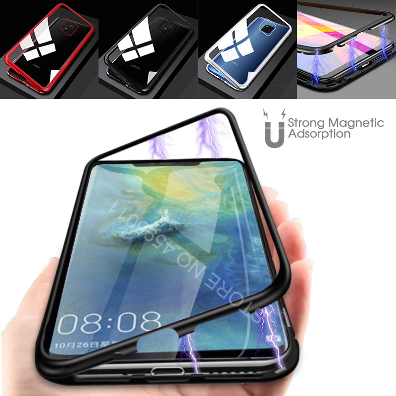 For Huawei Mate 20 lite Pro P20 lite Pro Magnetic Adsorption Phone Cases For Huawei Mate 10 Tempered Glass Back Cover Metal CaseFor Huawei Mate 20 lite Pro P20 lite Pro Magnetic Adsorption Phone Cases For Huawei Mate 10 Tempered Glass Back Cover Metal Case
