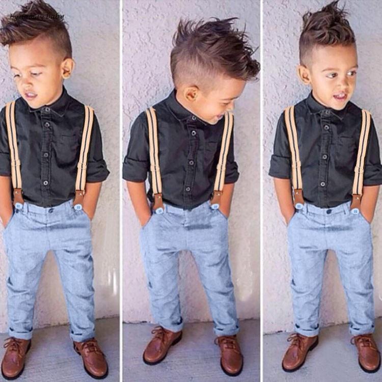 09eb1dd0b151 New Children Clothing Sprint Summer Cute Baby Boys Clothes Set Boy Kids  Long Sleeve Shirt + Pants Set For 2-7 Age 24