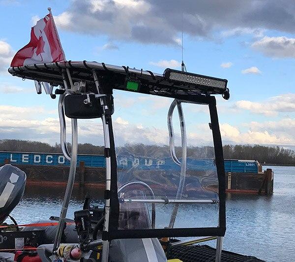 Dolphin Boat T Top LED 126W  Marine Light Bar Black Coated