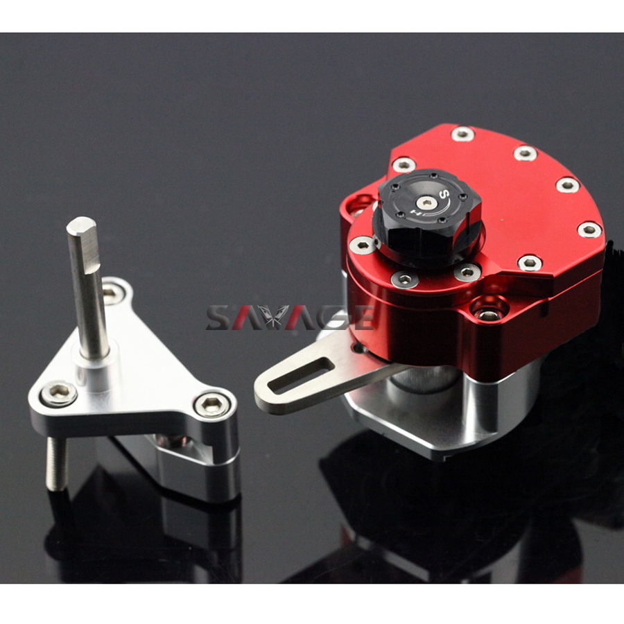 For YAMAHA YZF R25/R3 YZF-R3 YZF-R25 2014-2015 Red Motorcycle Reversed Safety Steering Damper Stabilizer with Mount Bracket for yamaha yzf r25 yzf r3 2014 2015 motorcycle accessories steering damper gold