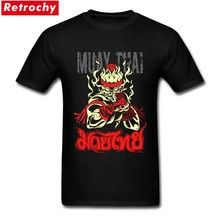 Tee Shirt Bespoke muay thai flame fighter Males Design Of T Shirt Short Sleeve Boyfriend's 3XL(China)