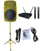 STARAUDIO SSYM 15 15 3500 Вт PA DJ сценический активный BT динамик с 2CH UHF Ручной микрофон 1 проводной микрофон 1 динамик подставка