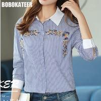 BOBOKATEER Embroidery Blouse Top Women Blouses Long Sleeve Shirt Women Tops Vetement Femme Blusas Mujer De