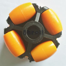 70mm double layers Plastic Omniwheel Conveyor Robot Wheel Omni-Directional Double Layer Bearing Caster Roller