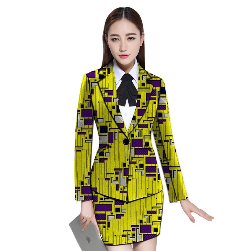 Afrikanische Kleidung Frauen Print Blazer Mit Rock Ankara Mode Rock Und Jacke Sets Weibliche Outfits Dashiki Anzüge Warm Und Winddicht