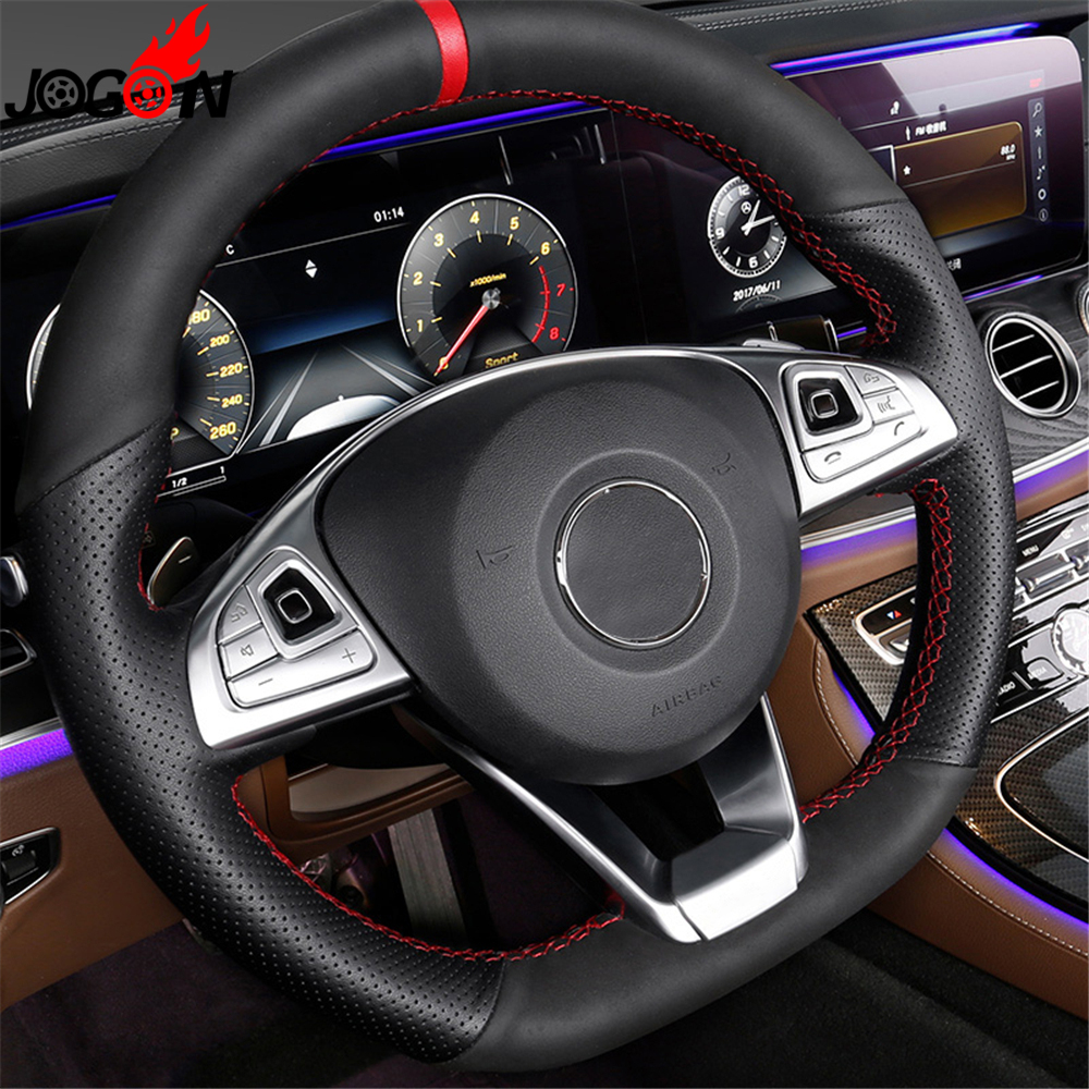 For Mercedes Benz E Cl W213 E200 E300 2016 2017 Car Interior Steering Wheel Panel On Sticker Translucent Trim In Mouldings From