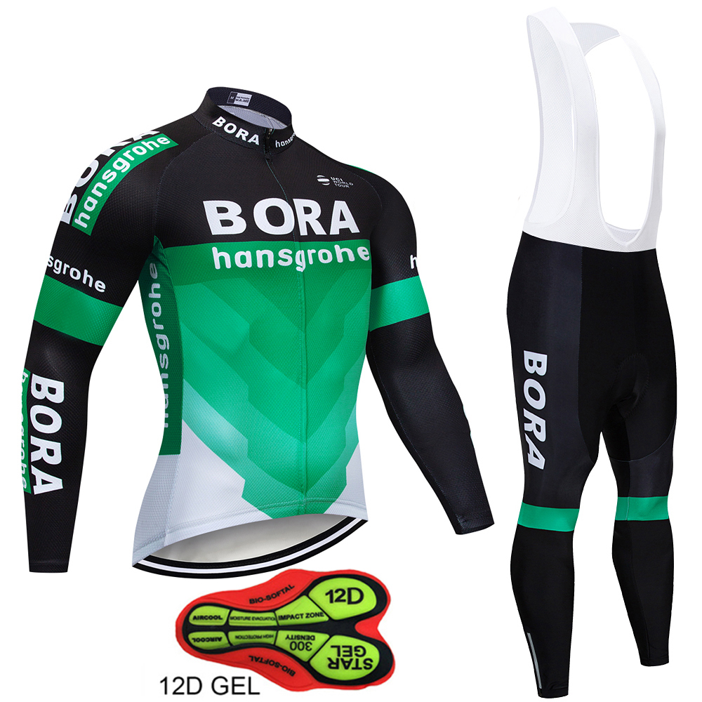 Autumn BORA Long Sleeve Cycling Clothing Set Breathable Bicycle Wear Anti-sweat MTB Bike Cycling Jersey Ropa Maillot Ciclismo xintown cycling clothing men long sleeve bike wear jersey sleeve suite mtb bicycle maillot ropa ciclismo sportswear roupa