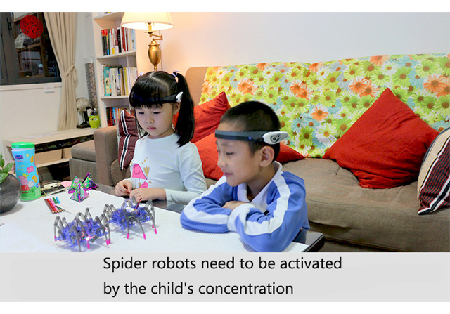 Children's Educational Toys Brain Radio Wave Idea Control DIY Spider Intelligence Robot Toys Brain Wave Detector1+Toy Spider 4