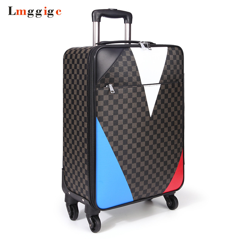 New Travel Suitcase Bag,Women Trolley Case ,Fashion Rolling Luggage ,Men PU Commercial Box with wheels new fashion style cute toy motorcycle shape kids children rolling luggage boy and girl trunk trolley case travel box suitcase
