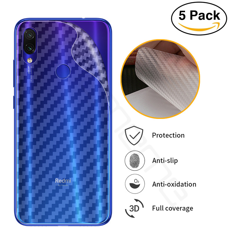 3D Carbon Fiber <font><b>Sticker</b></font> Back Film For Xiaomi Redmi Note 7 Soft Back Screen Protector Film For Xiaomi Redmi Note 7 Not Glass image