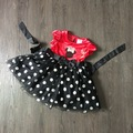 18M 2 3 4 years velvet girls minnie mouse summer dress kids cartoon high quality fashion clothes bow red clothes for kids 005