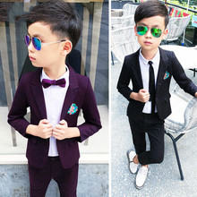 2019 Boy Suits(Blazer+Pant) Boy Blazers and Suit Wedding Suits for Boys Kids Formal Suits Boy Blazer Korean Jacket for Boy 2-10Y недорого