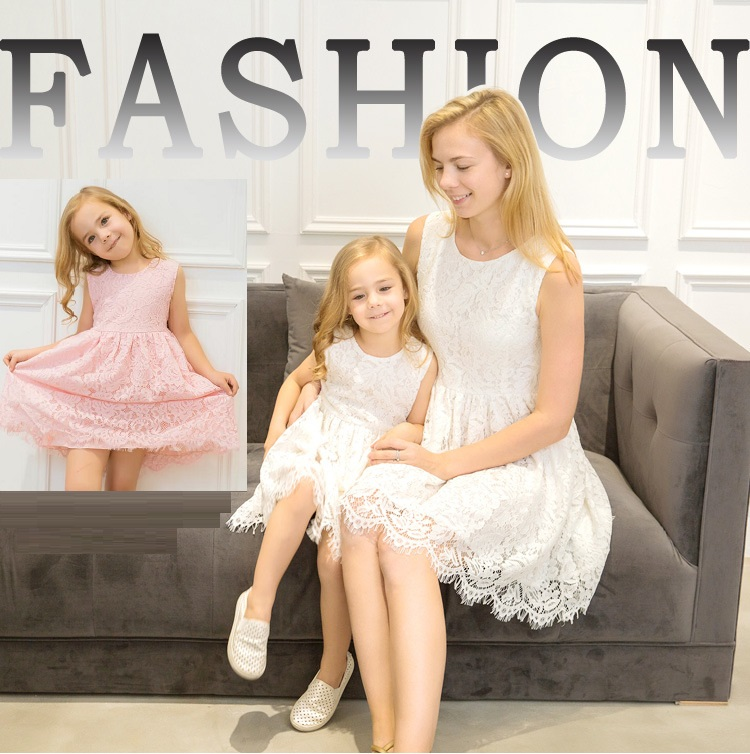 7590bf13f56e fashion lace mother daughter dress family look mommy and me clothes family  matching outfits mom and daughter dresses clothing