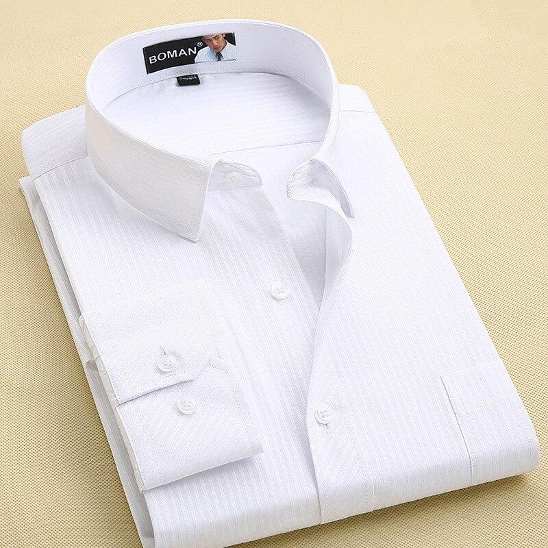 Long Sleeve Shirt Men 2017 Autumn New Fashion Designer High Quality Solid Shirt Non Iron Slim Fit Business Shirts Formal 4XL X00 3