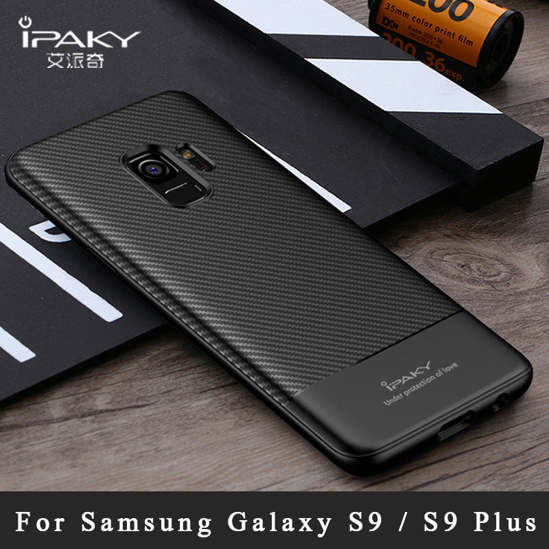 For Samsung <font><b>Galaxy</b></font> S9 Plus Case iPaky Coque For Samsung S9 Plus Case Silicone Carbon Fiber TPU Cover For Samsung S9 <font><b>S</b></font> <font><b>9</b></font> Cases image