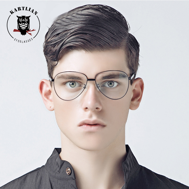 f388026f4f Kartlian aviator glasses Optical Frame Eyeglasses Men Women eyewear Lens  prescription lenses alloy retro thin spectacles