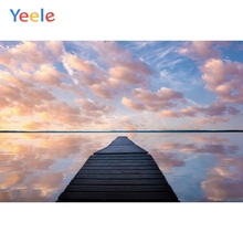 Yeele Wool Bridge Sea Sunset Glow Bedroom Decor Photography Backdrops Personalized Photographic Backgrounds For Photo Studio