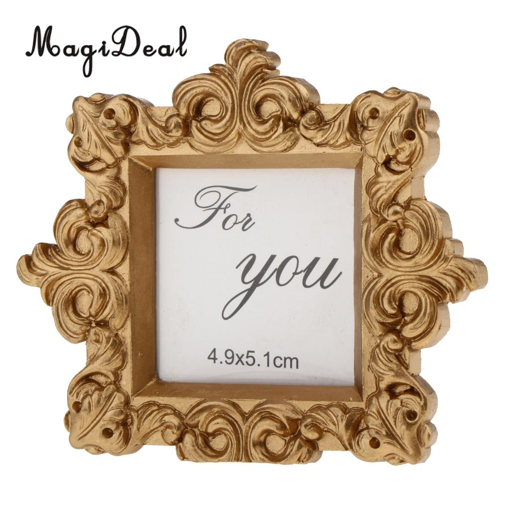 MagiDeal Shiny Sequin Small Photo Frame with Back Stand Wedding ...