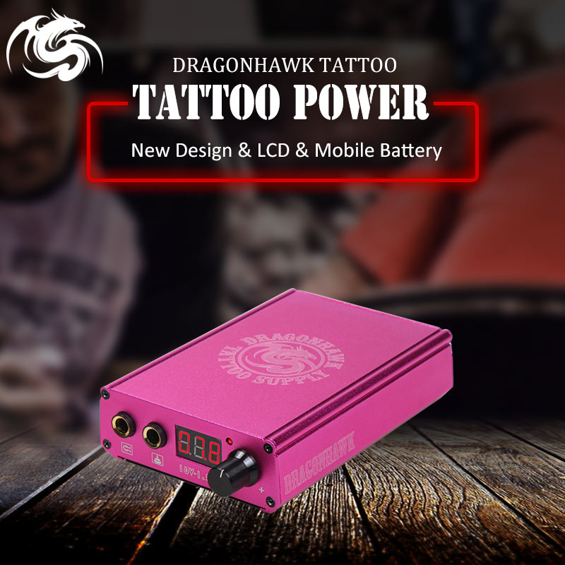 US $64 99 30% OFF|New Arrival Battery Charge Power Box Lcd Magnet Tattoo  Power Dragonhawk Machine Gun Power Supply-in Tattoo Power Supply from  Beauty