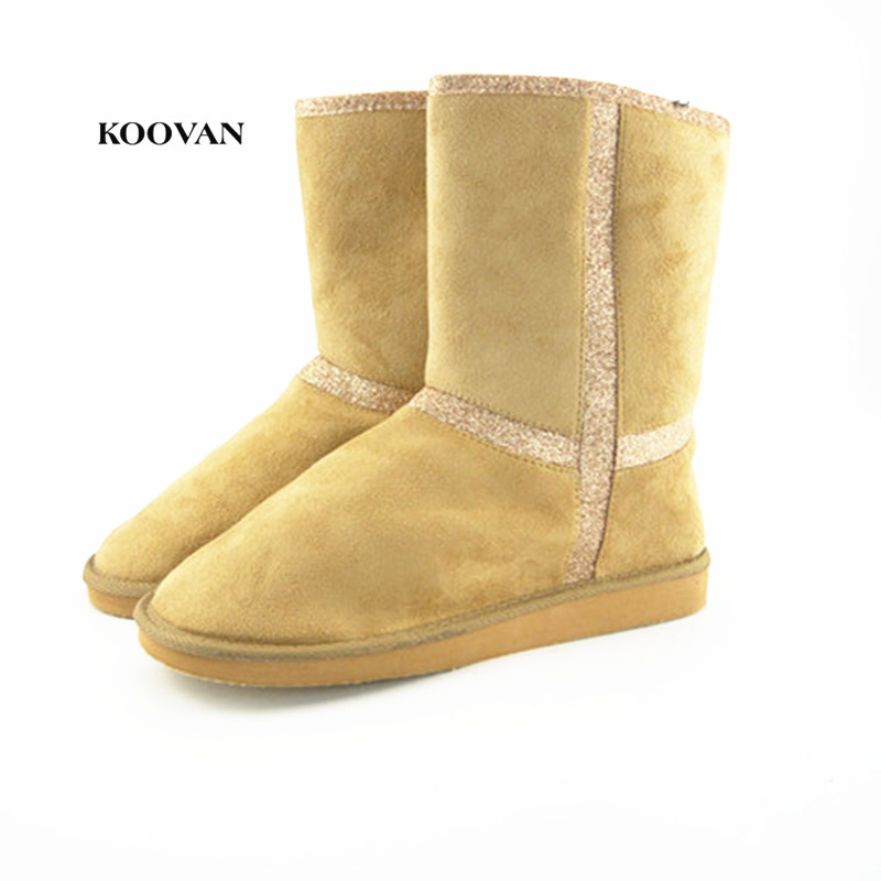 Qualified Koovan New Year Sale 2018 Fashion Glitter Women Snow Boots Warm Plush Fur Shoes Women Women Boots For Winter Big Size 43 To Be Renowned Both At Home And Abroad For Exquisite Workmanship Office & School Supplies Skillful Knitting And Elegant Design