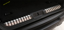 цена на Lapetus Trunk Door Rear Bumper Sill Protector Plate Cover Trim Fit For RANGE ROVER Sport 2014 2015 2016 2017 Auto Accessories