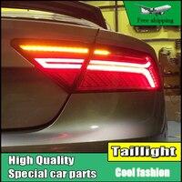 Автомобиль Стайлинг для Audi A7 фонарь в сборе 2011 2017 светодиодный задние фонари заднего лампы Перемещение указатель поворота Задний фонарь ак