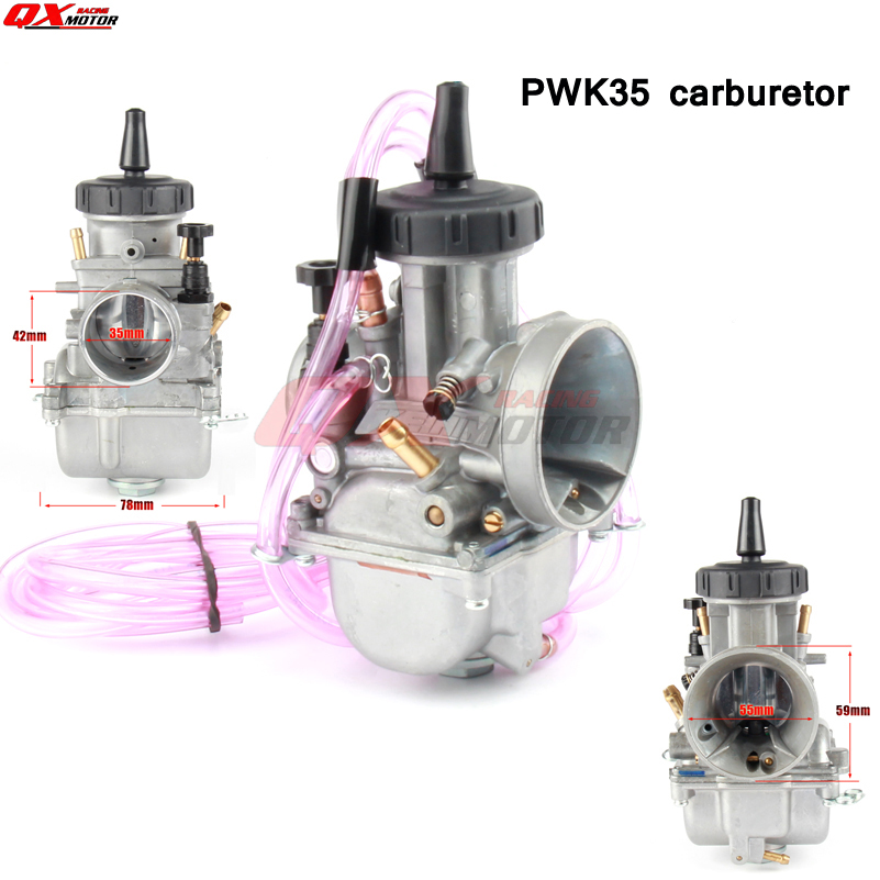 New Modified PWK Carburetor Keihin 35mm Carb Universal For 2T/4T Dirt Bike MX Enduro Off Road Motorcycle Moped Scooter ATV Quad racing carburetor keihin pe28 28mm carb for atv quad 4 wheeler motocross motorcycle pit dirt motor bike scooter moped