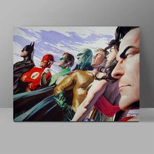 Justice League Canvas Painting Superman Batman Wonder Woman Wall Pictures Superhero Bedroom HD Print Hanging