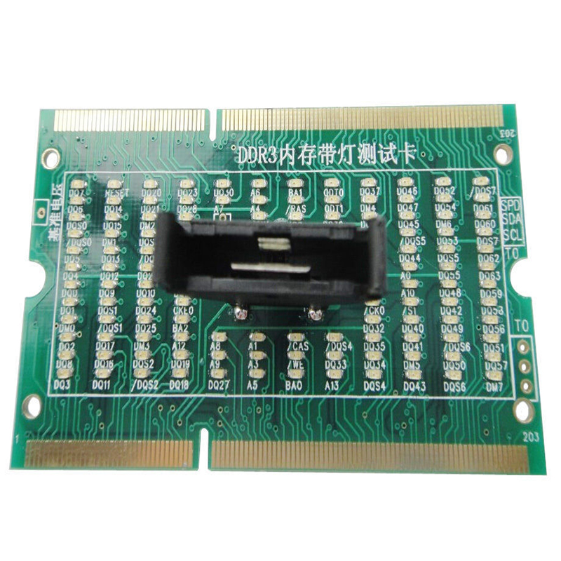DDR3 Memory Slot Tester Card with LED For Laptop Motherboard Notebook NEW