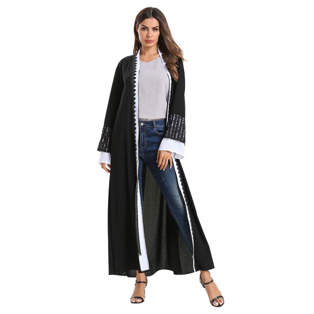Intellective Ishowtienda Women Muslim Dresses Lace Up Spliced Long Maxi Dress Abaya Dubai Kaftan Robe Cardigan Islamic Jilbab Femme Musulman Mother & Kids