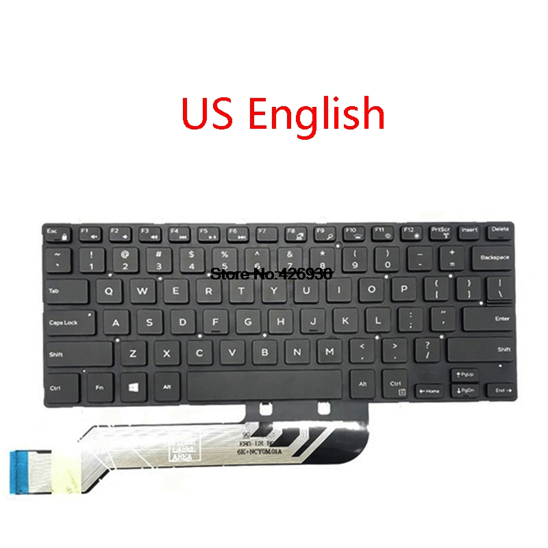 Laptop Backlit US RU BR FR JP Keyboard For <font><b>DELL</b></font> 5368 5378 7375 7460 5568 <font><b>7560</b></font> 7569 7572 5370 7370 English French Brazil Russia image