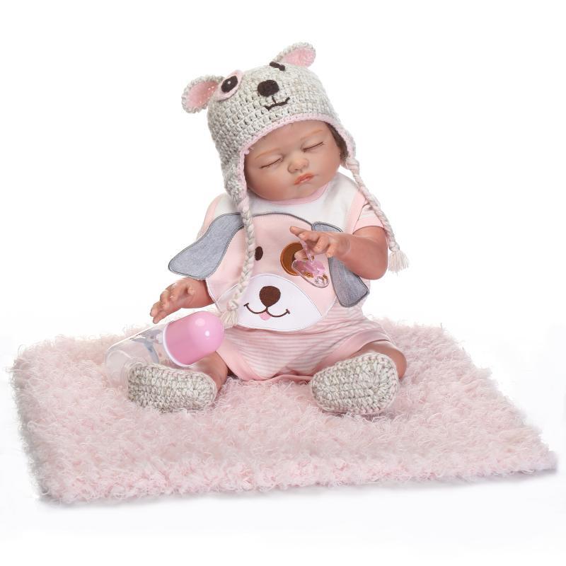 Doll Baby D172 57CM 22inch NPK Doll Bebe Reborn Dolls Girl Lifelike Silicone Reborn Doll Fashion Boy Newborn Reborn Babies цена