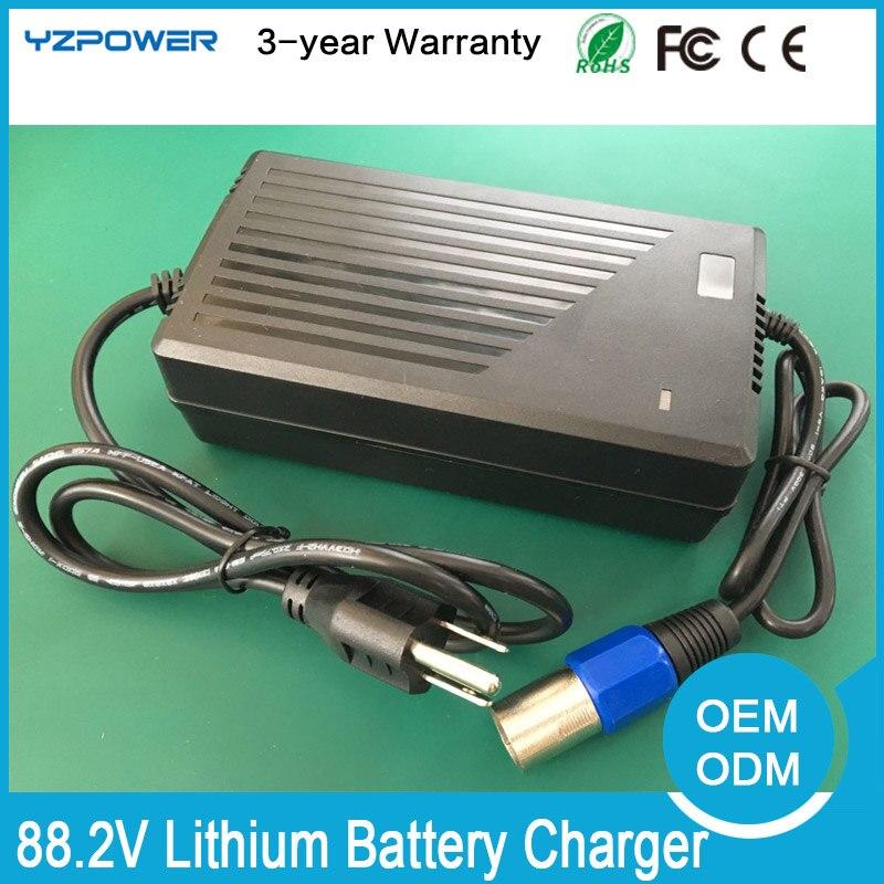 YZPOWER 88,2 V 2A 2.5A 3A литиевая батарея зарядное устройство для 21S 78,6 V 77,7 V Li-po батарея Электрический инструмент