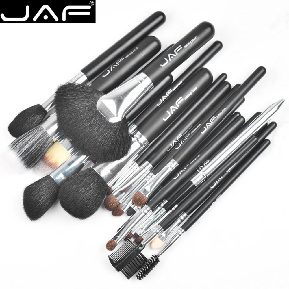 цена на JAF 20PCS/SET Makeup Brushes Set Blending Hair Blusher Eyeshadow Powder Foundation Makeup Cosmetic Brush Tool Kit new