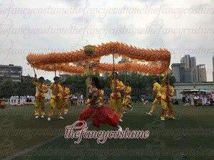 Image 5 - Tejido de seda estampado, 10m de longitud, 5, 8 estudiantes, danza del dragón chino, utilería ORIGINAL para escenario, desfile, ropa de fiesta Folk