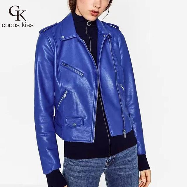 2016 Новых Прибыть Моды Улица Высокое качество женщин Короткий Мыть PU Кожаная Куртка На Молнии Яркие Цвета Дамы Основные Куртки