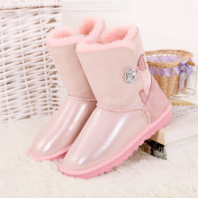Top quality winter snow boots for women sheepskin with fur in one inside wool genuine leather Australia style boots