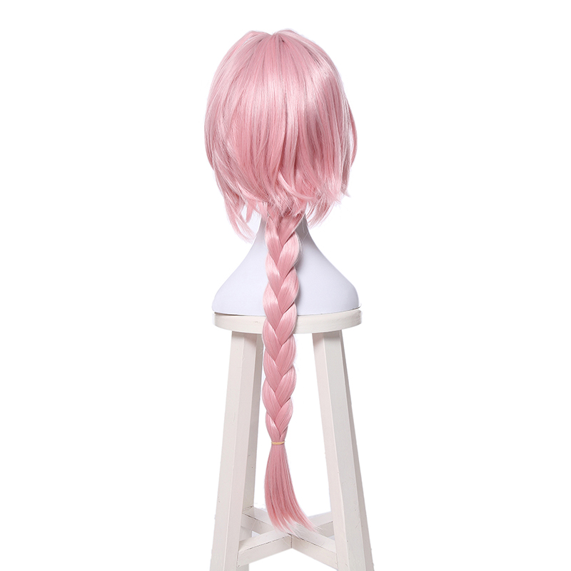 Image 5 - L email wig New Arrival Game Fate Apocryph Astolfo Cosplay Wigs Long Pink Heat Resistant Synthetic Hair Halloween Cosplay Wig-in Synthetic None-Lace  Wigs from Hair Extensions & Wigs