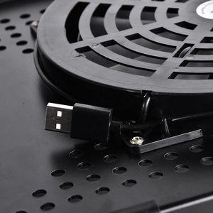 Image 4 - Ayarlanabilir dizüstü masası taşınabilir katlanabilir bilgisayar masası yatak masası ile bir büyük soğutma fanı