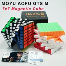 New MoYu AoFu GTS M Magnetic 7x7x7 Magic Cube Professional GTS2 M 7x7 Speed Cube Magico Cubo Educational Toys For Children leadingstar moyu aochuang gts m 5x5 magnetic smart cube magic cube speed puzzle cubes educational toys for children