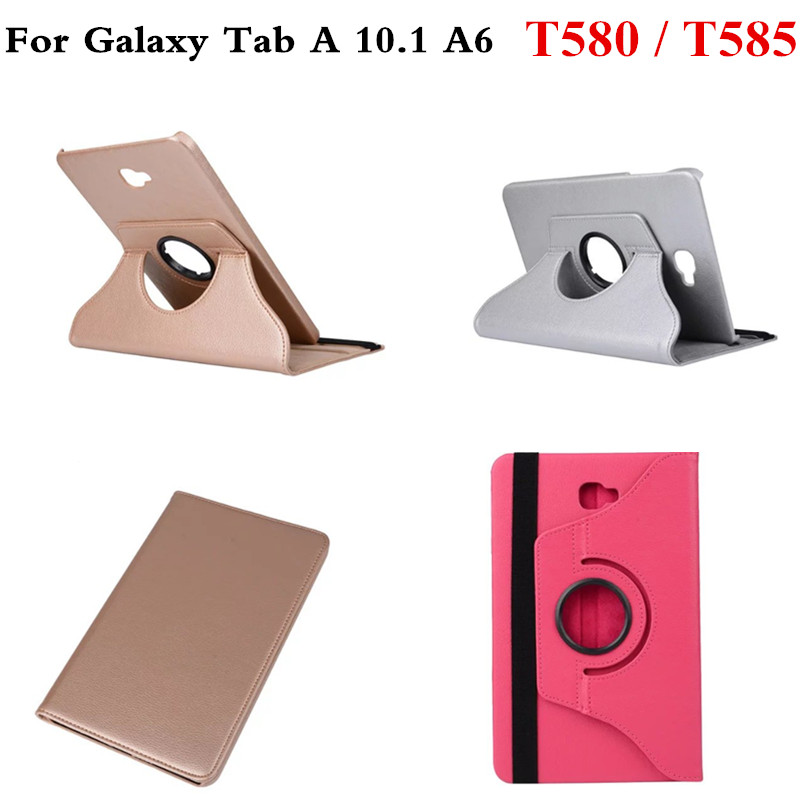 Luxury Rotary Pattern PU Leather Stand Case for Samsung Galaxy Tab A 10.1 A6 2016 T580 T585 Cover 10.1 Tablet T580N T585C