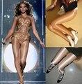 Nova qualidade chegada Beyonce moda dj feminina ds cantor trajes sexy meia calça reflexiva
