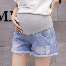 Pregnant Women Short Pants Summer Maternity Jean Shorts Adjustable Waist Pregnancy Denim Feminino Clothing