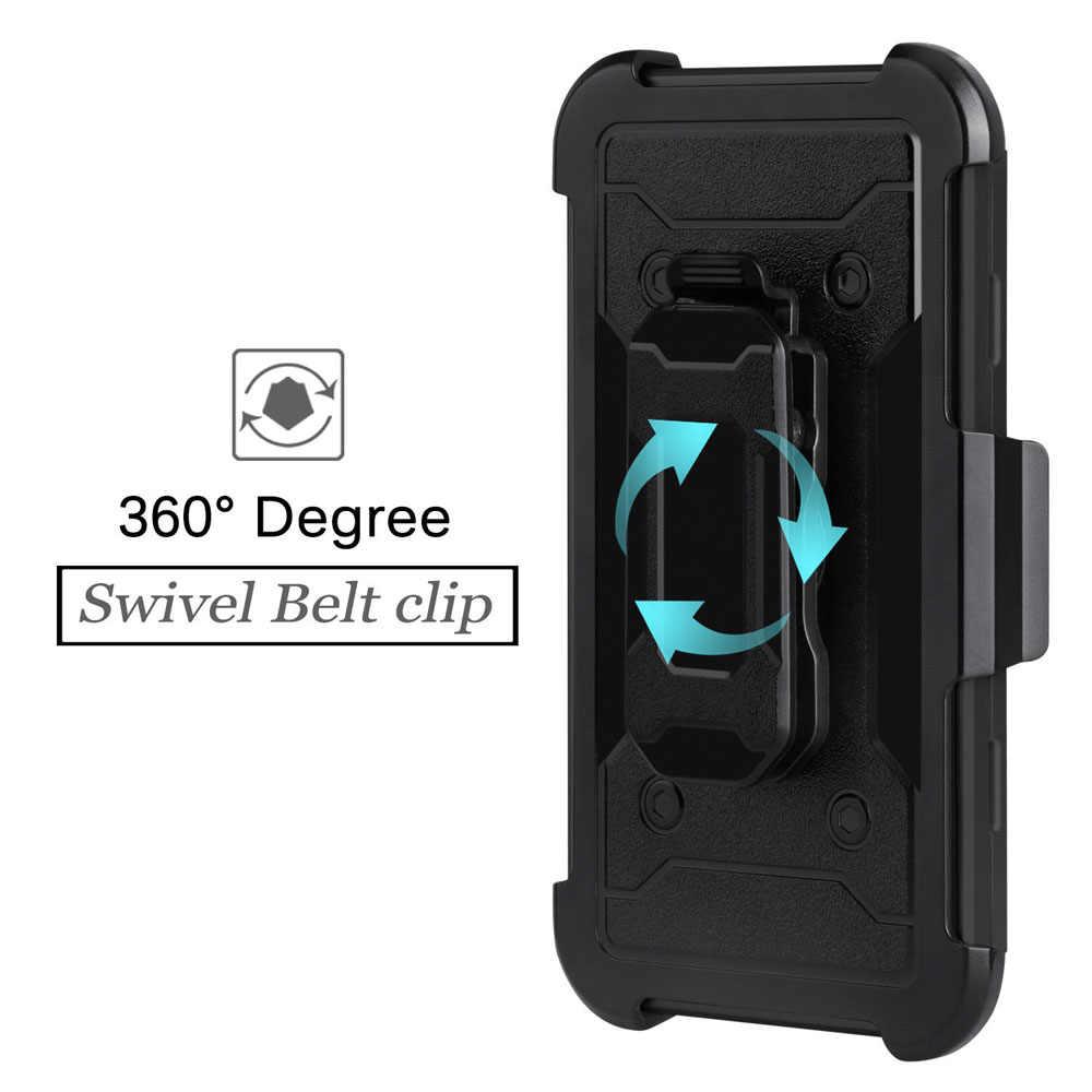 For LG K30/K10 2018/k10 Alpha/Premier Pro LTE/Phoenix Plus Heavy Duty Armor  Case With Belt Clip Holster Shockproof Hard Cover