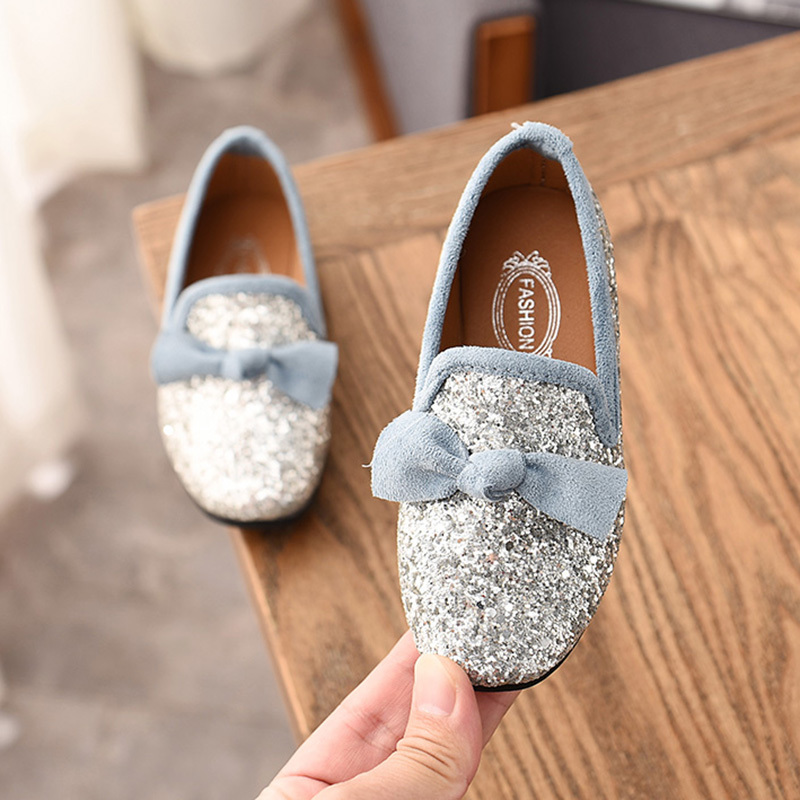 Detail Feedback Questions about Girls Shoes With Bow Knot Flats Slip ... 7bad74c4f296