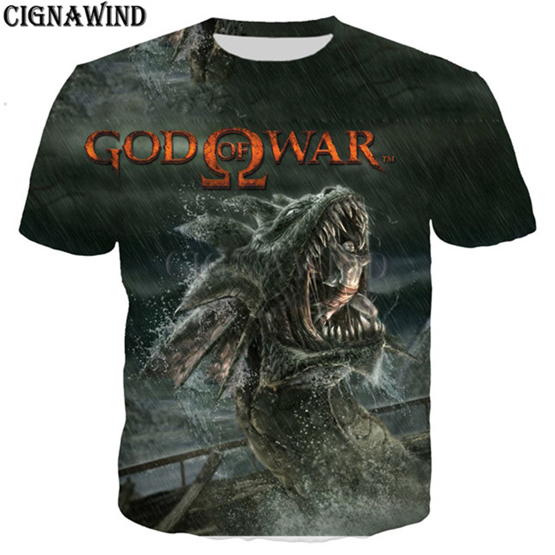 GOW Shirt men/women game Kratos God Of War 3D print t-shirts 2