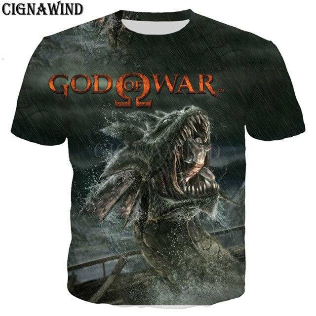 GOW Shirt men/women game Kratos God Of War 3D print t-shirts 2